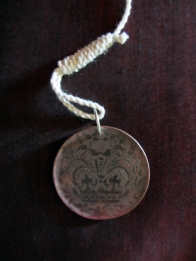 Ginger Bottari, Love token from the Prisoners of the Crown series, punched copper