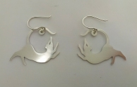 Ginger Bottari, Rattus earrings IV, saw pierced silver