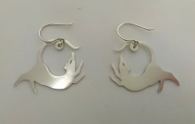Ginger Bottari, Rattus earrings IV, saw pierced silver