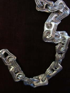 Ginger Bottari, Ring-pull necklace, cast silver