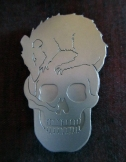 Ginger Bottari, Skull Rat brooch, saw pierced titanium