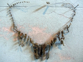 Ginger Bottari, Them old bones necklace, found object, deconstructed