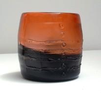 Megan Bottari, from the 'Water Tank' series, blown glass, sandblasted
