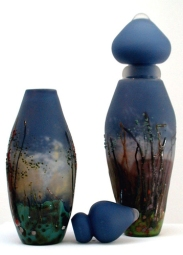 Megan Bottari, 'Kelly Country' vases from the Ned Kelly series, blown glass