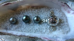 Ginger Bottari, Caged Pearl series, South Sea pearls, silver