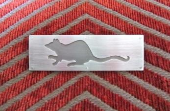 Ginger Bottari, Rattus brooch, saw pierced silver and titanium