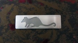 Ginger Bottari, Rat brooch, saw pierced silver and titanium