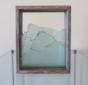 Megan Bottari, 'Stringybark Creek: vignette #1', gunshot glass(fused), vintage police fence paling