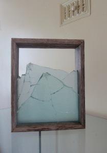 Megan Bottari, 'Stringybark Creek: vignette #1', gun shot glass(fused), vintage police fence paling