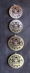 Ginger Bottari, Crownie pendants, silver