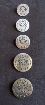 Ginger Bottari, Crownie brooches, silver and titanium