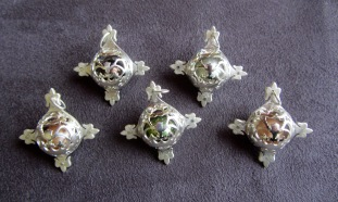 Ginger Bottari, Caged Pearls (pendants), South Sea pearls, silver