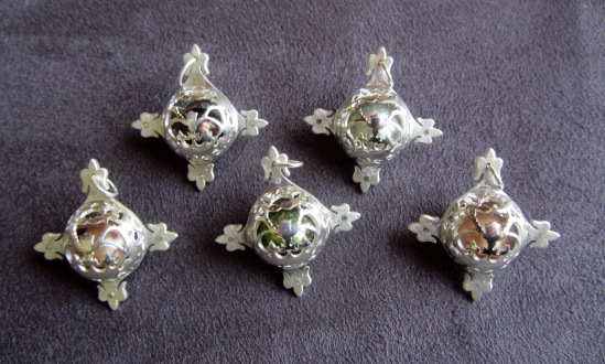 Ginger Bottari, Caged Pearls (pendants)