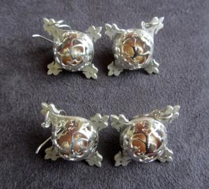 Ginger Bottari, Caged Pearls (earrings)