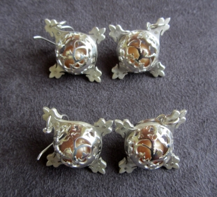 Ginger Bottari, Caged Pearls (earrings), South Sea pearls, silver