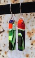 Yardbird earrings, king parrot