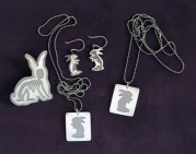 Ginger Bottari, Festival of the Bunny, saw pierced silver and titanium