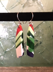 Yardbird earrings, flock