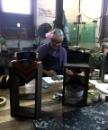 Megsie in the workshop