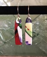 Yardbird earrings, painted parrot