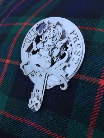 Ginger Bottari, Christening kilt pin