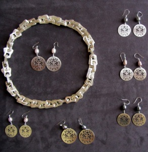 Ginger Bottari, Crownie Ware (and cast silver chain)