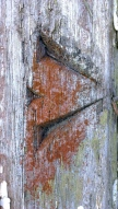 broad-arrow carved at front gate